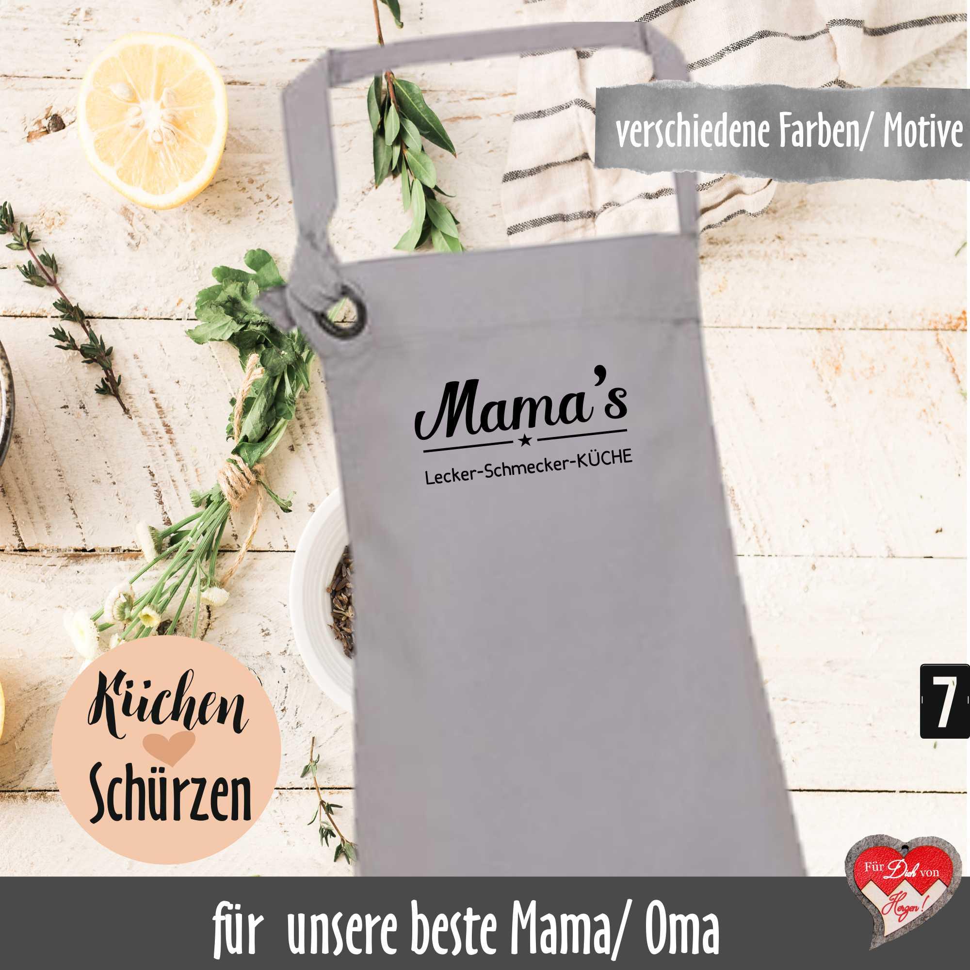 Kuchenschurze Fur Mama Oder Oma Gestickte Latzschurze Als Geschenk Fur Mutter Grossmutter Fuer Dich Von Herzen