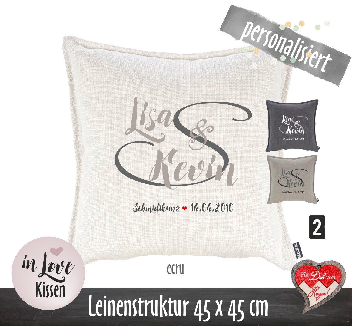 Kissen Fur Partner Hochzeitsgeschenk Personalisiertes Leinenkissen