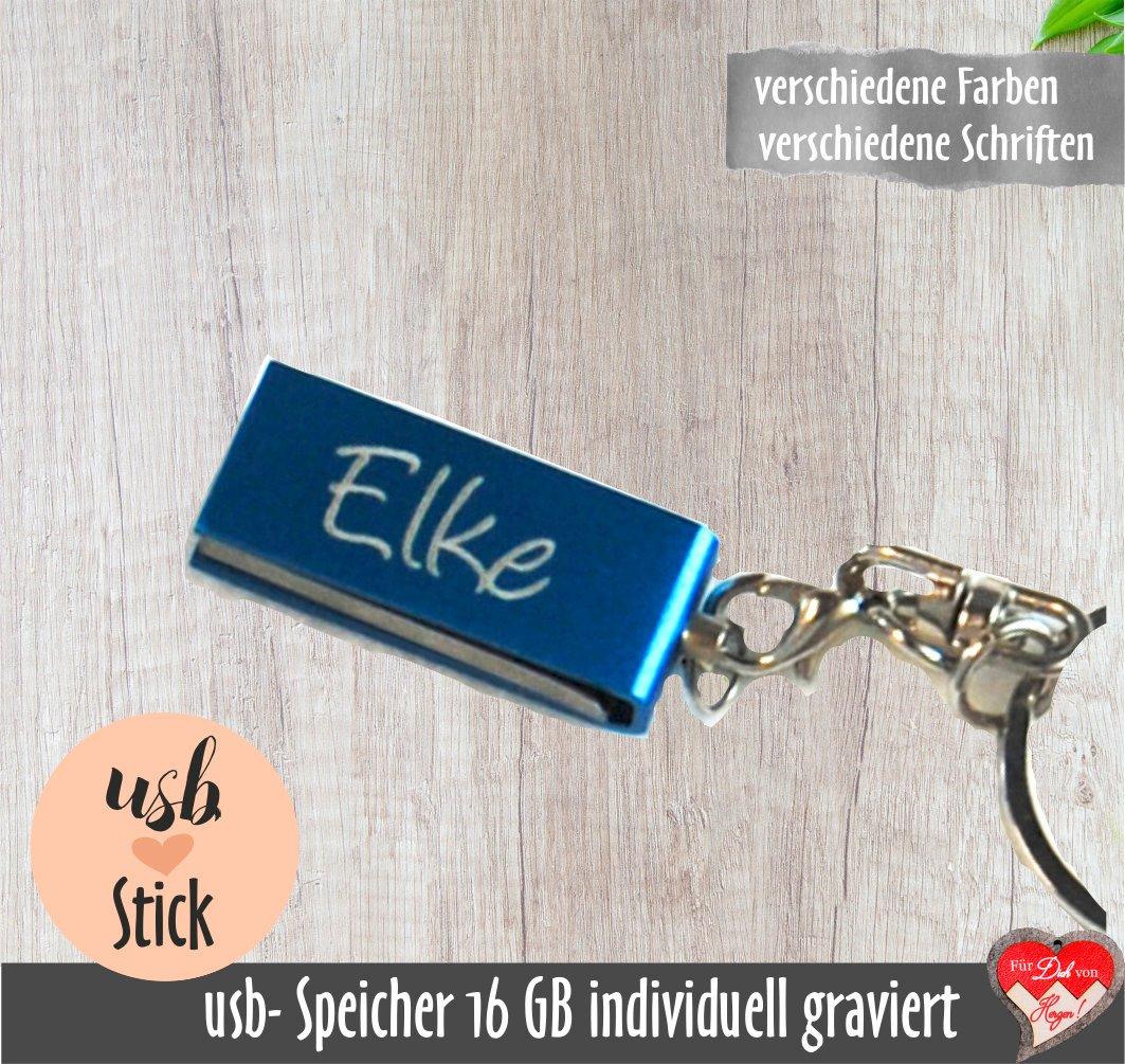 USB-Stick, 16 GB mit persönlicher Gravur