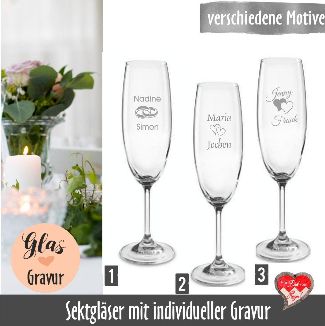 Sektgläser Hochzeit mit Gravur, Gastgeschenk, Sektgläser Brautpaar,  Sektglas graviert, Gastgeschenke Hochzeit, Namensgravur, Monogramm,