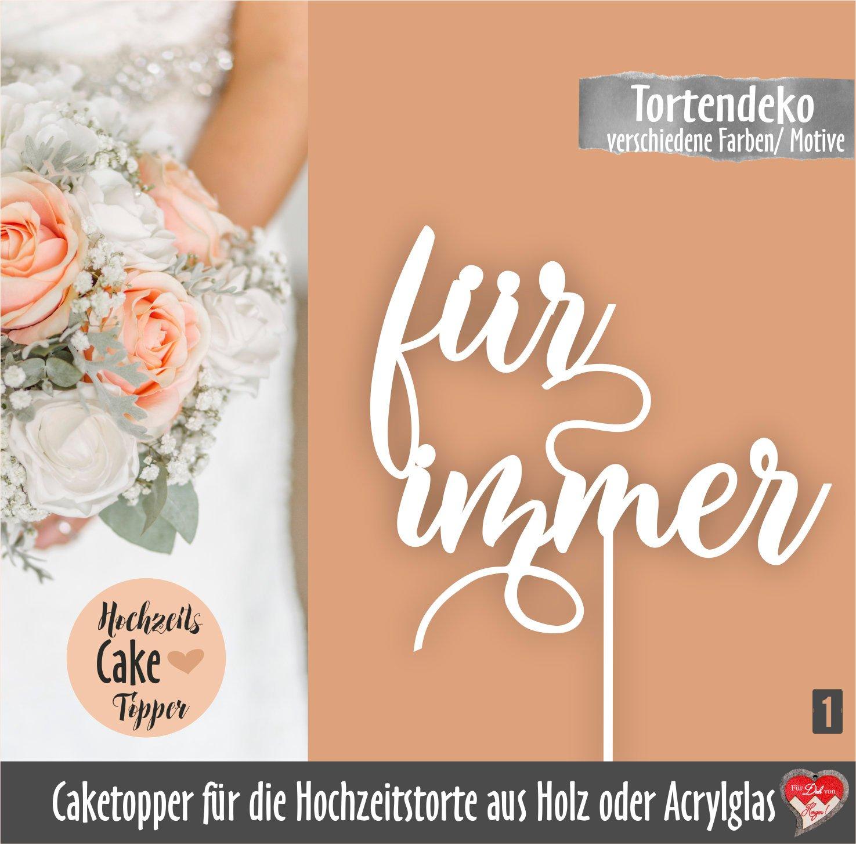 Caketopper Hochzeit Caketopper Tortendekoration Caketopper