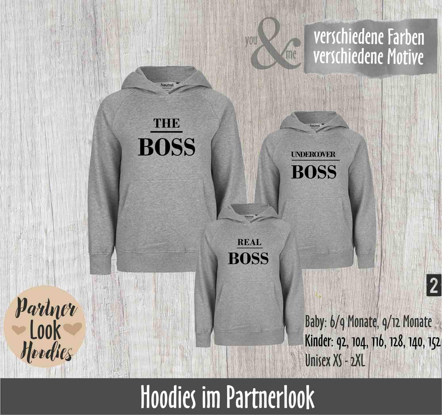Partnerlook Hoodies Boss Papa Und Sohn Vater Und Sohn Brüder